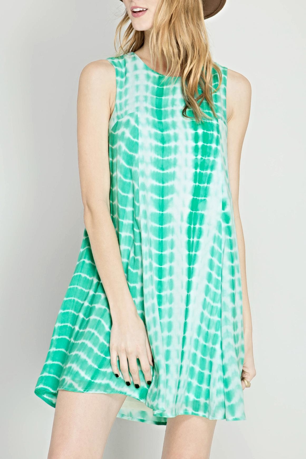 She + Sky Tie Dye Flare Dress - Main Image