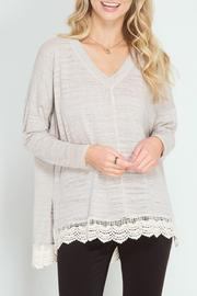She + Sky Top With Lace - Product Mini Image