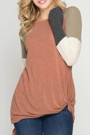 She + Sky Treat Yourself Top - Front cropped