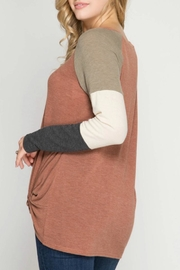 She + Sky Treat Yourself Top - Front full body