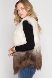 She + Sky Colored Faux Vest - Side cropped
