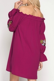 She + Sky Tunic Embroided Dress - Front full body