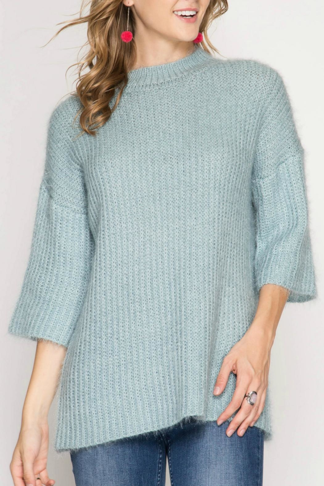 She + Sky Stacey Tunic Sweater - Main Image