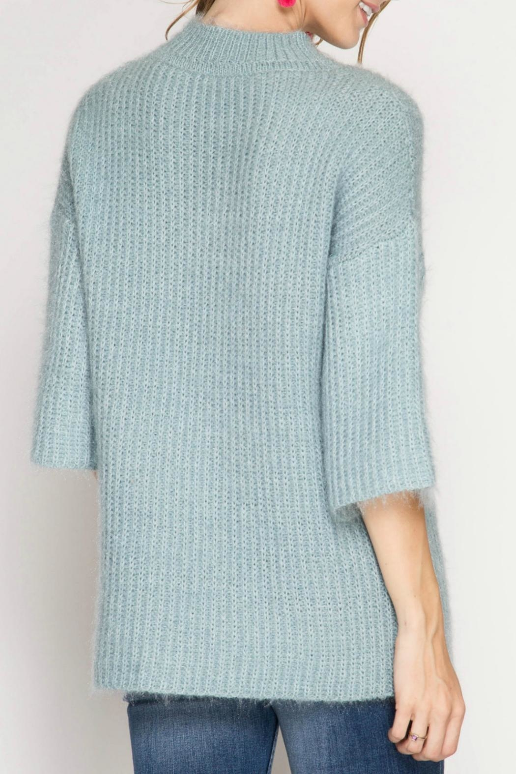 She + Sky Stacey Tunic Sweater - Front Full Image