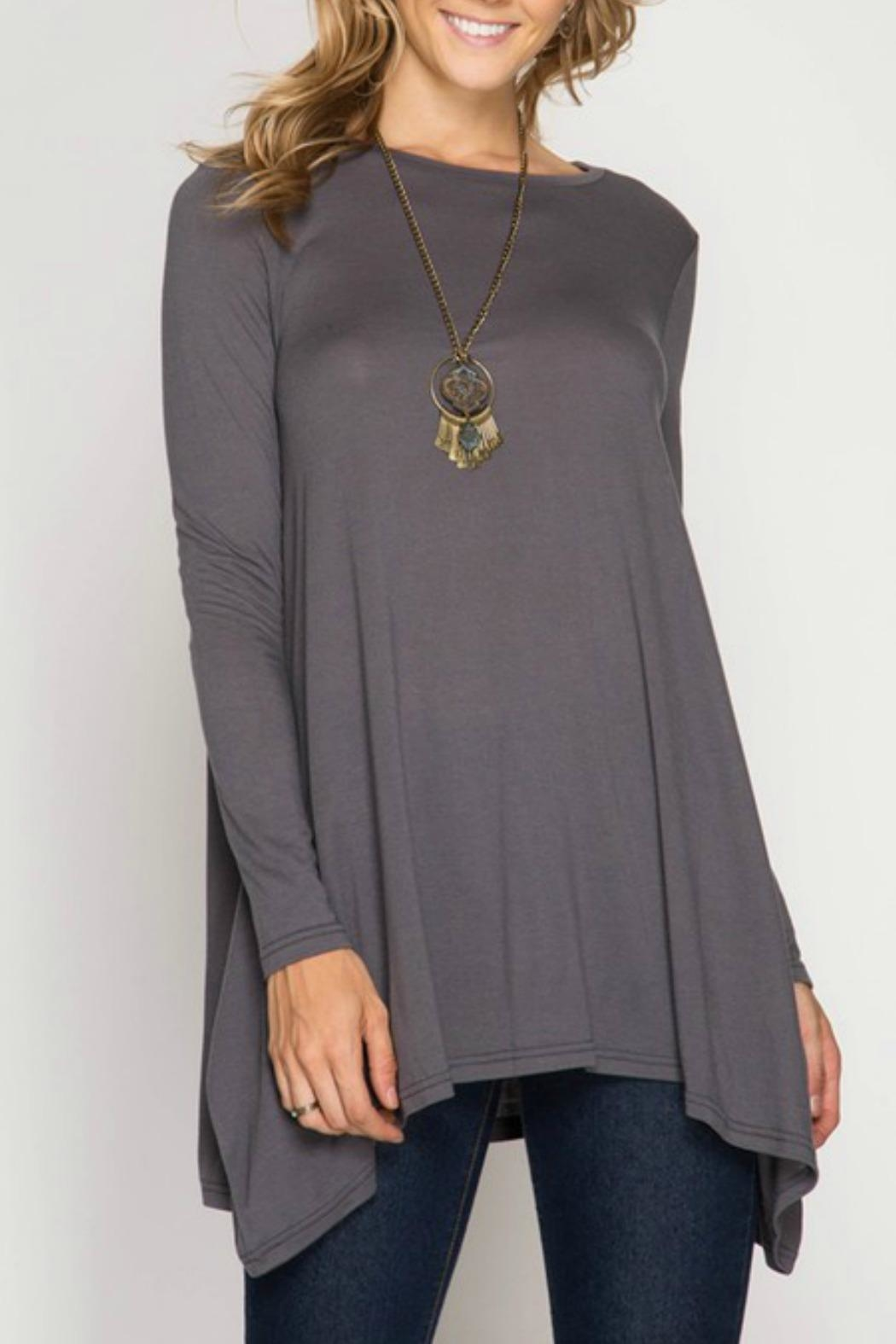 She + Sky Tunic Top - Front Cropped Image