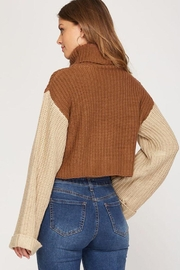 She + Sky Turtleneck Cropped Pullover - Other