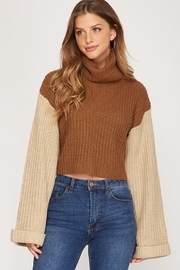 She + Sky Turtleneck Cropped Pullover - Product Mini Image