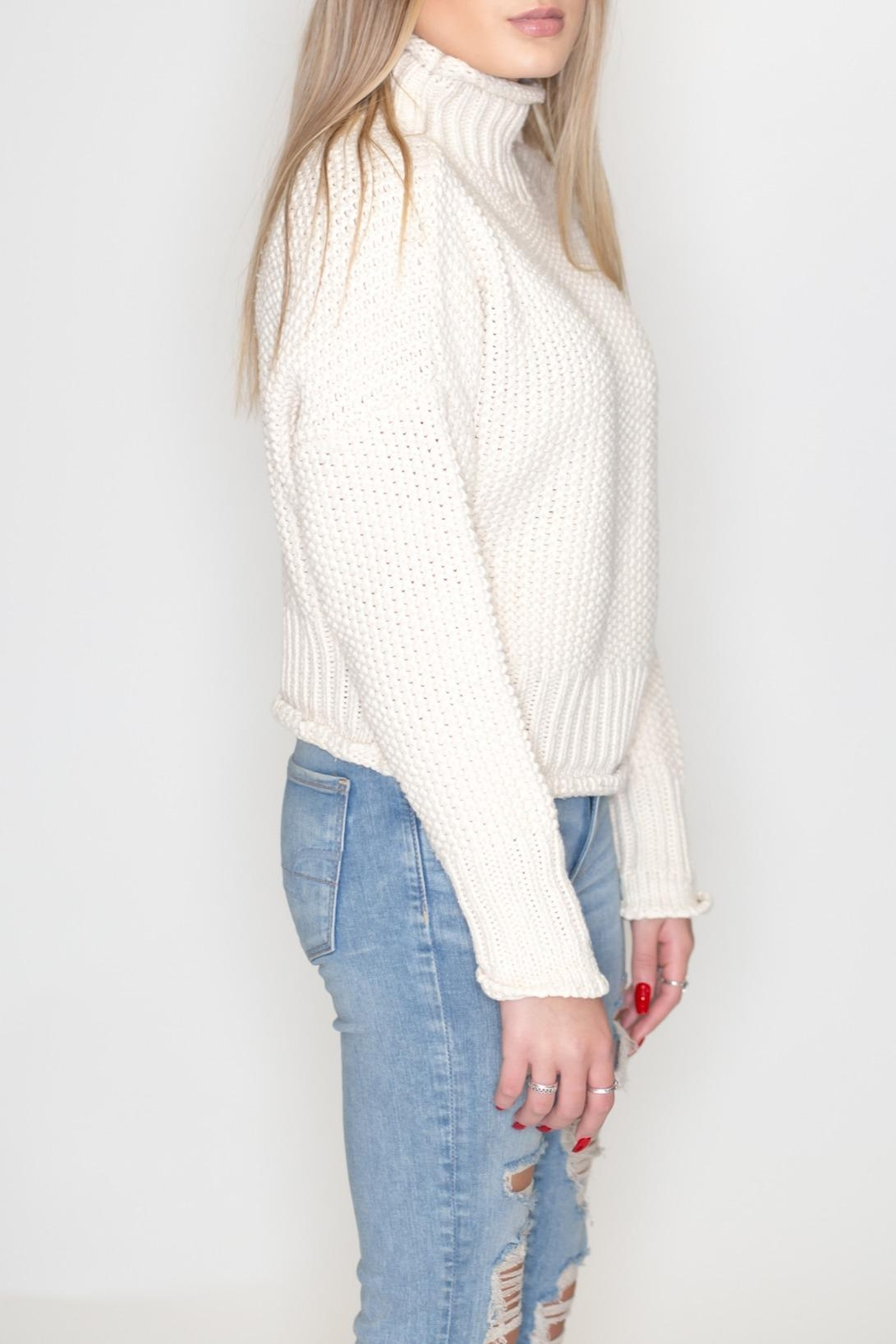 She + Sky Turtleneck Sweater - Front Full Image