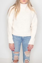She + Sky Turtleneck Sweater - Front cropped