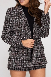 She + Sky Tweed Double-Breasted Jacket - Back cropped