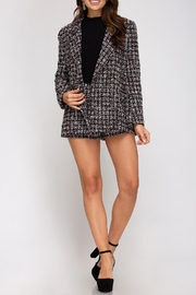She + Sky Tweed Double-Breasted Jacket - Product Mini Image