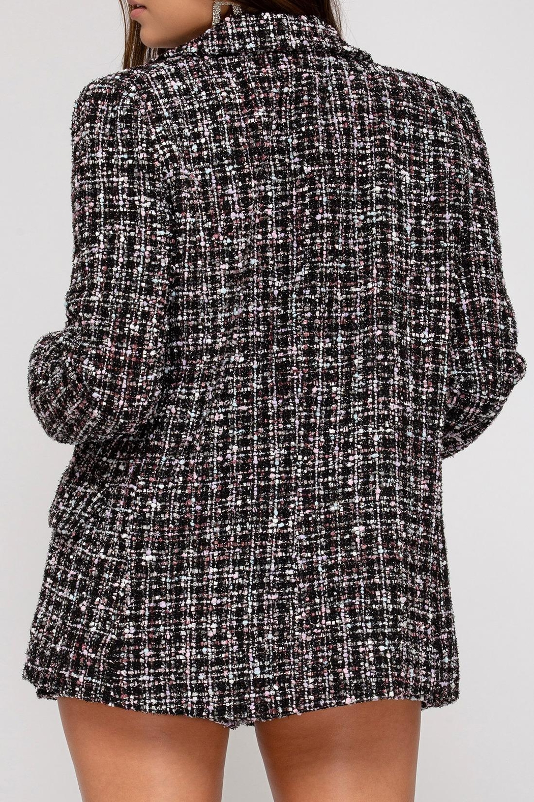 She + Sky Tweed Double-Breasted Jacket - Side Cropped Image