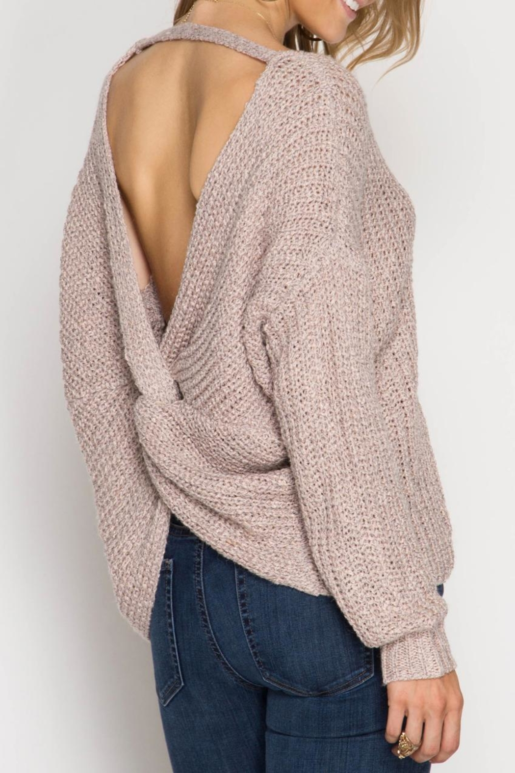 She + Sky Twist Back Sweater from Kansas by Seirer s Clothing ... 111ec9f5b