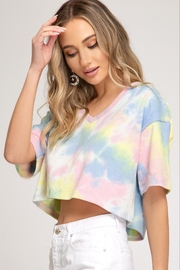 She + Sky Tye-Dye Crop Tee - Product Mini Image