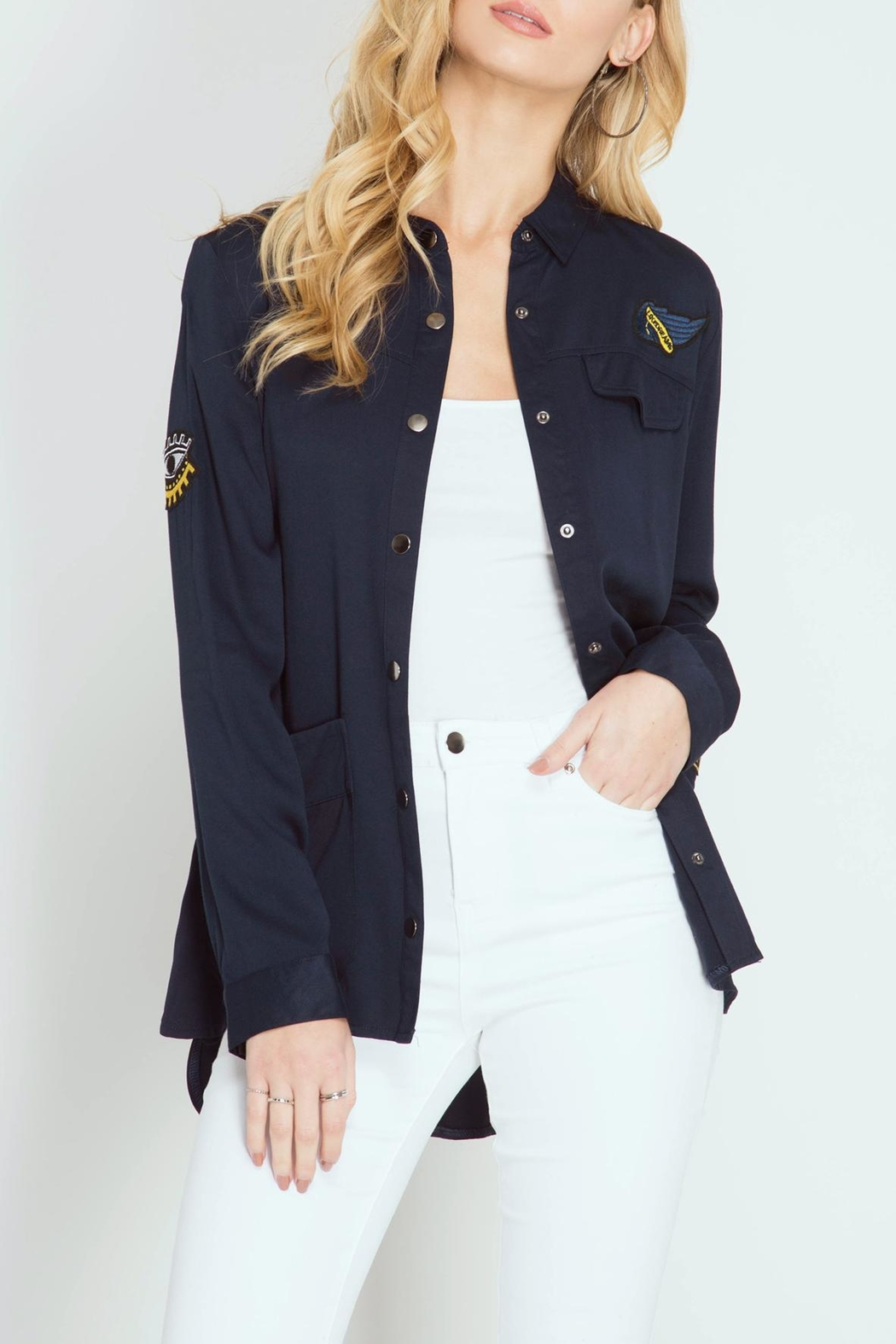 She + Sky US Army Jacket - Front Cropped Image