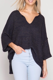 She + Sky V-Neck Oversized Sweater - Product Mini Image