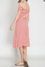 She + Sky Vacation In Cannes Dress - Side cropped