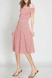 She + Sky Vacation In Cannes Dress - Front full body