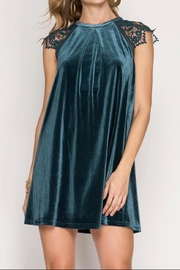 She + Sky Velvet Holiday Dress - Product Mini Image