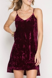 She + Sky Velvet Slip Dress - Product Mini Image