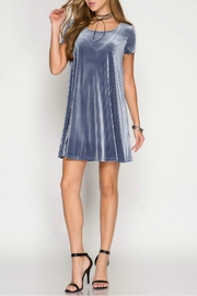 She + Sky Velvet Swing Dress - Product Mini Image
