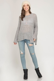 She + Sky Very Merry Sweater - Front cropped