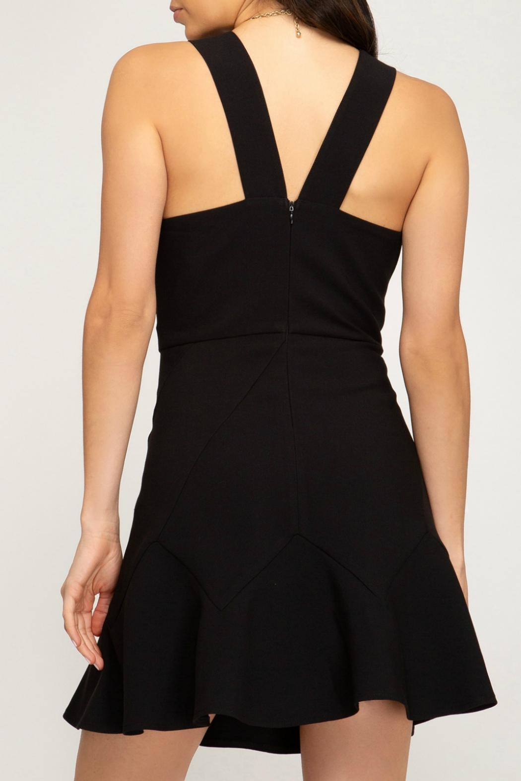 She + Sky Woven Fit/flare Dress - Front Full Image