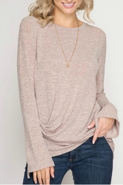 She + Sky Wrist Tie Sweater - Product Mini Image