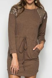 She + Sky Brown Sequin Dress - Product Mini Image
