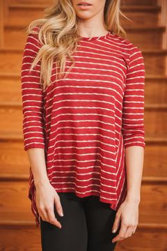 Shoptiques Product: Burgundy Stripe Top