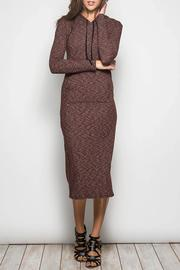 Shoptiques Product: Chocolate Hoodie Dress