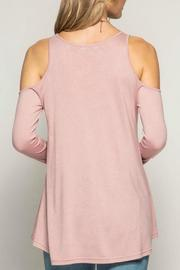 She + Sky Cold Shoulder Basic Tunic - Front full body