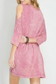 She + Sky Cold Shoulder Dress - Front full body