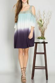 She + Sky Cold Shoulder Ombre Dress - Product Mini Image