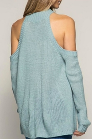 She + Sky Cold Shoulder Sweat - Side cropped