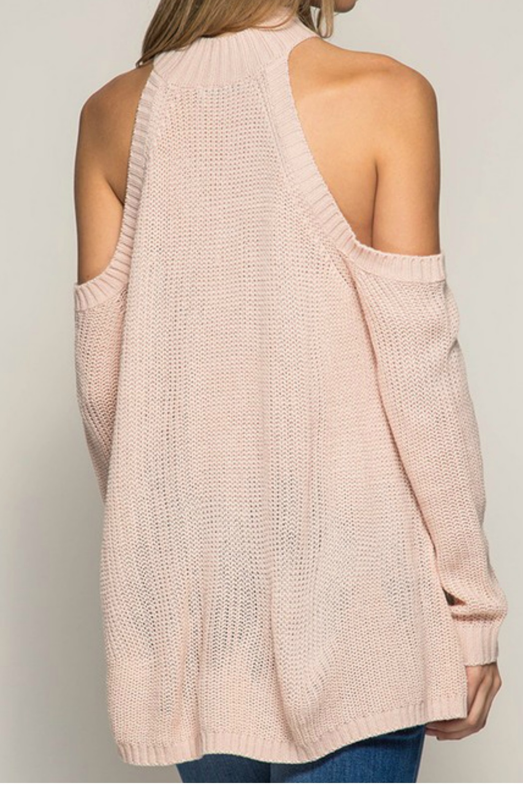 She + Sky Cold Shoulder Sweat - Front Full Image