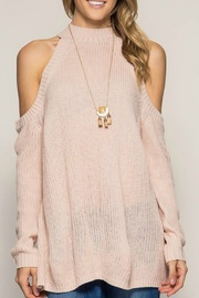 She + Sky Cold Shoulder Sweat - Front cropped