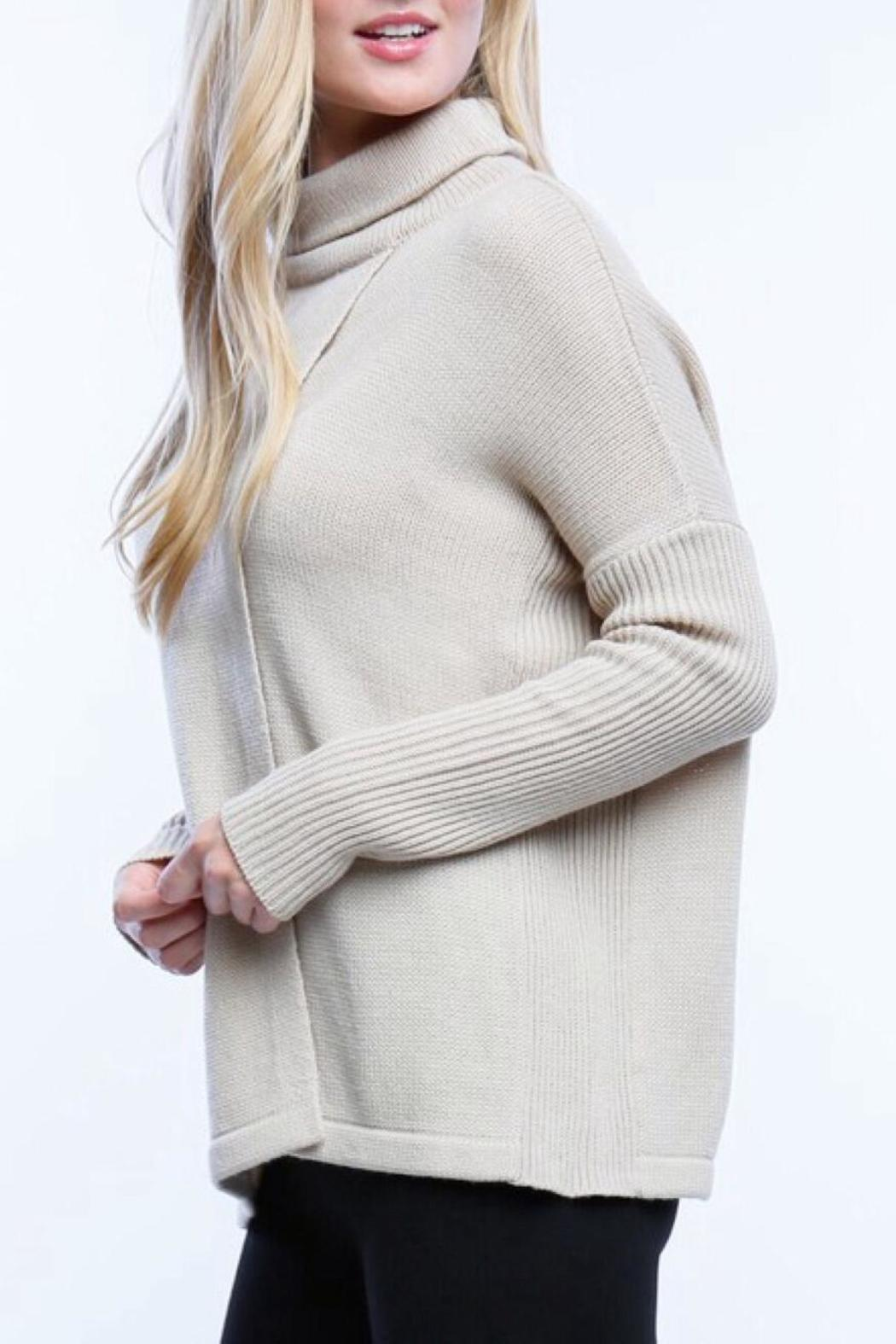 Timing Crossbody Sweater - Back Cropped Image