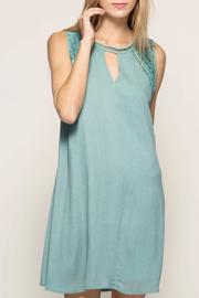 She + Sky Eyelit Sleeveless Dress - Product Mini Image