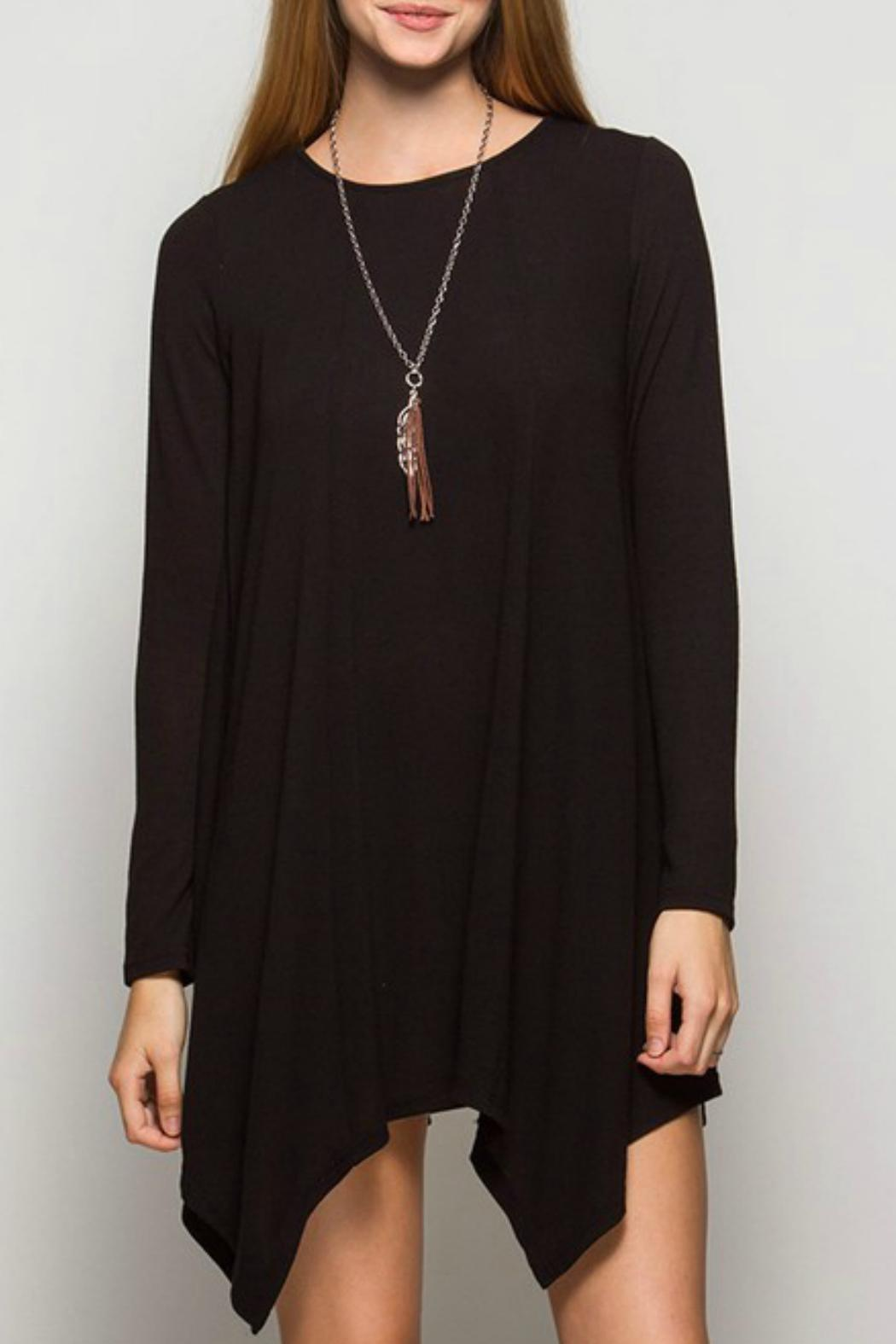 She + Sky Hankerchief Trim Dress - Front Cropped Image