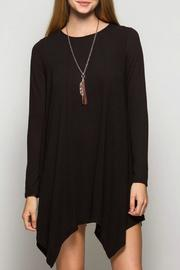 She + Sky Hankerchief Trim Dress - Front cropped