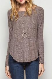 She + Sky Heather Knit Top - Product Mini Image