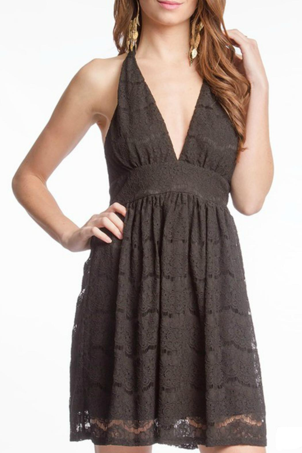 She + Sky Lace Halter Dress - Main Image