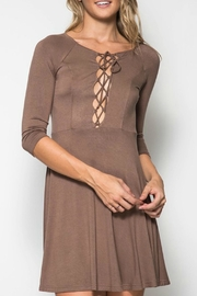 She + Sky Lace Up Front Dress - Product Mini Image