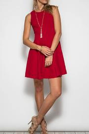 She + Sky Red Flare Dress - Front cropped