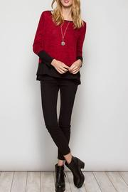 She + Sky Red Holiday Top - Product Mini Image