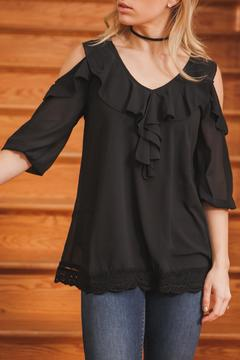 Shoptiques Product: Ruffle Tie Top