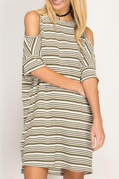 Shoptiques Product: Striped Cold Shoulder
