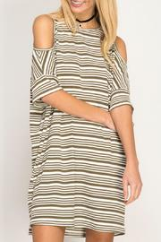She + Sky Striped Cold Shoulder - Product Mini Image