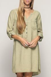 She + Sky Tab Sleeve Dress - Product Mini Image